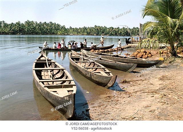 Backwaters. Kerala, India