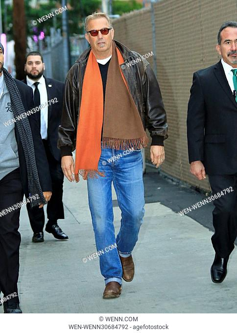Kevin Costner arrives at the Jimmy Kimmel studios ahead of an appearance on the show Featuring: Kevin Costner Where: Los Angeles, California