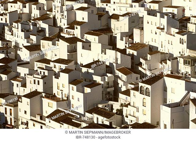 White buildings of Casares, Málaga Province, Andalusia, Spain