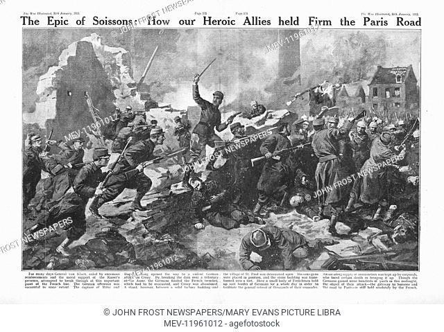 1915 War Illustrated Battle for Soissons