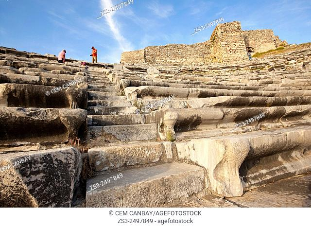 Tourists at the ancient theater of Miletus, Milet, Aydin Province, Turkey, Europe