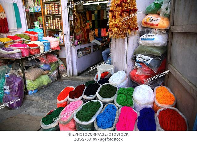 Woollen shop at Leh, Ladakh, Jammu Kashmir, India