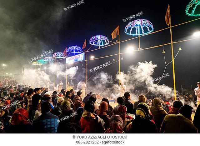 India, Varanasi, local festival