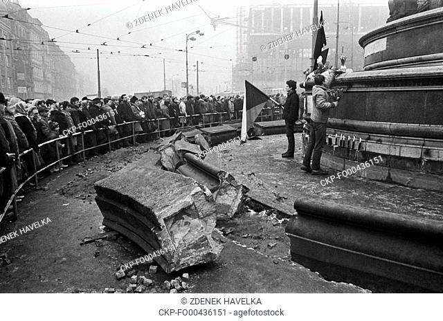 Czech university student Jan Palach set himself on fire in Wenceslas Square in Prague on January 16, 1969, as a political protest against the Warsaw Pact...
