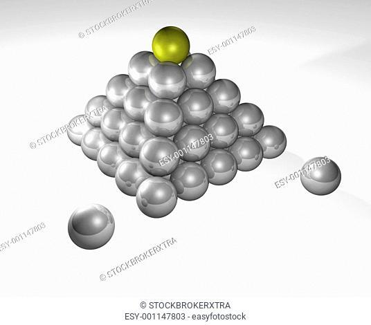 Stacked metallic spheres concept
