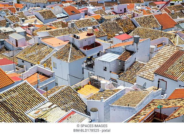 Aerial view of Olvera cityscape, Cadiz, Spain