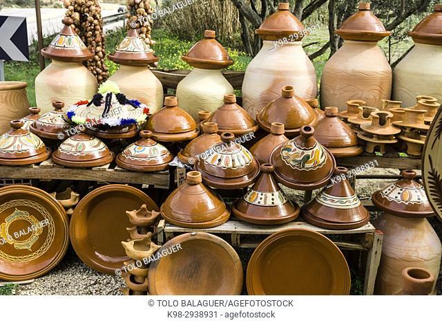Tajines, cazuela de barro cocido, Tetouan, Morocco, Northern Africa