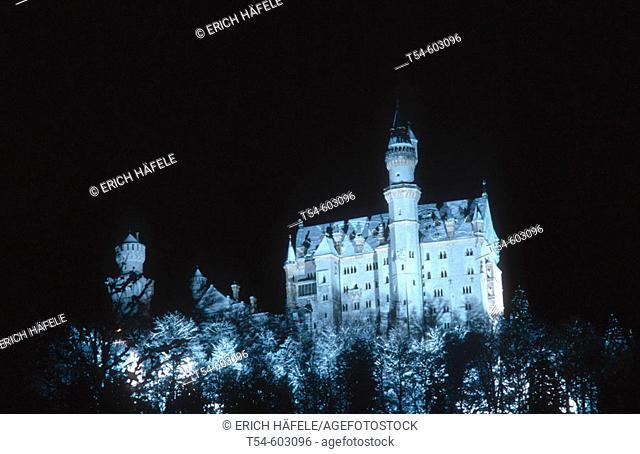 Castle Neuschwanstein. Bavaria. Germany