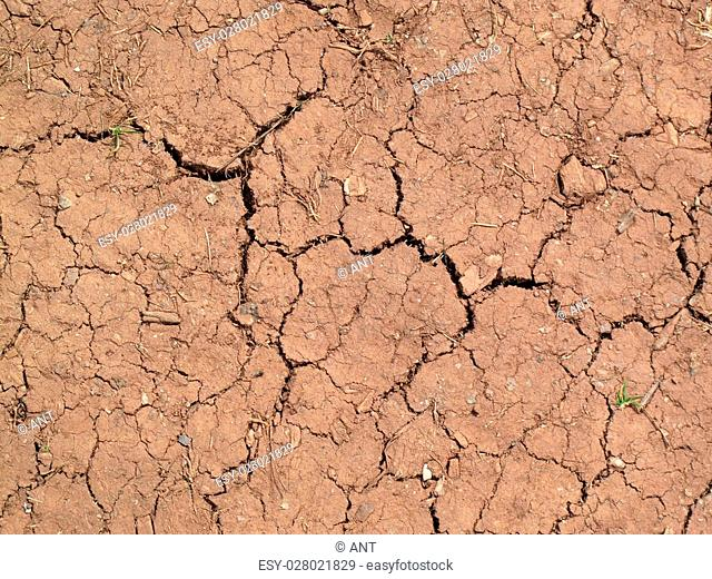 Background of parched cracked soil caused by summer drought