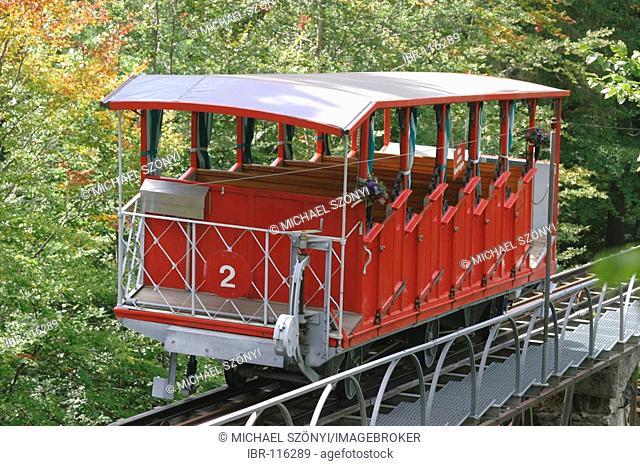 Hotel Giessbach funicular above Lake of Brienz (Bernese Oberland, Switzerland)