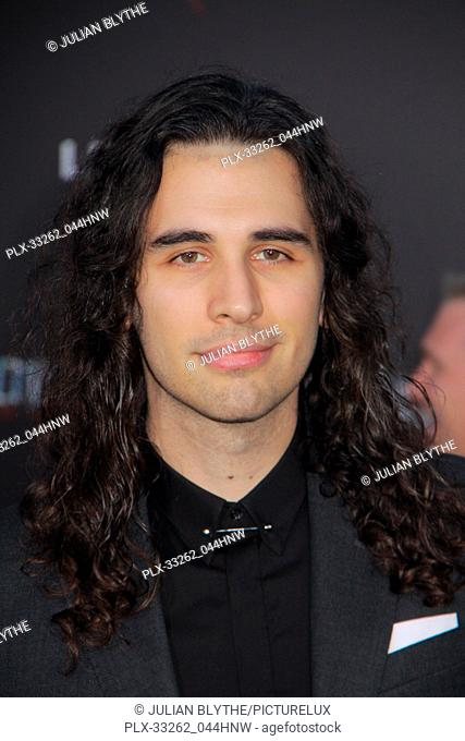 """Nick Simmons 03/22/2017 """"""""Power Rangers"""""""" Premiere held at the Westwood Village Theater in Westwood, CA Photo by Julian Blythe / HNW / PictureLux"""