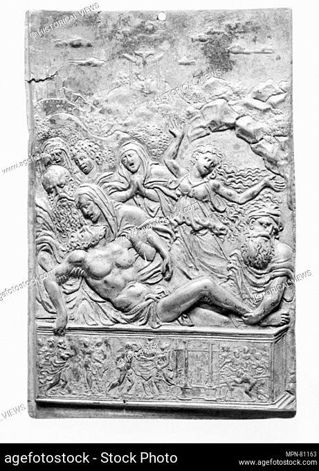 The Entombment. Artist: Moderno (Galeazzo Mondella) (Italian, Verona 1467-1528 Verona); Date: 16th century; Culture: Italian; Medium: Bronze
