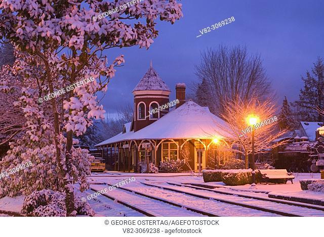 Train depot, NW Railway Museum, Snoqualmie, Washington