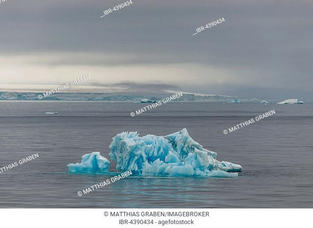 Small iceberg off the Austfonna glacier, Nordaustlandet, Svalbard, Spitsbergen, Norway