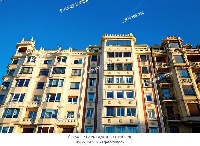La Zurriola avenue. Donostia. San Sebastian. Basque Country. Spain