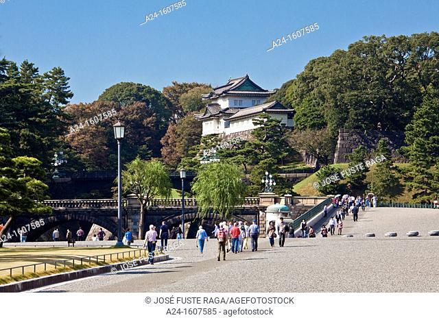 Japan-Tokyo City-The Imperial Palace Entrance Nijubashi