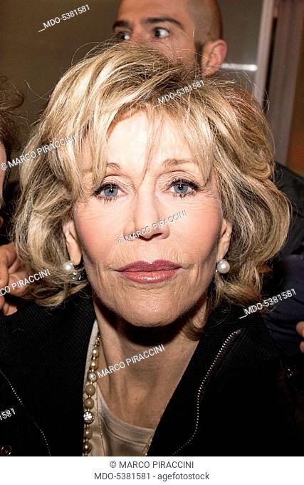 The actress Jane Fonda in Milan. Milan, Italy. 18th January 2015