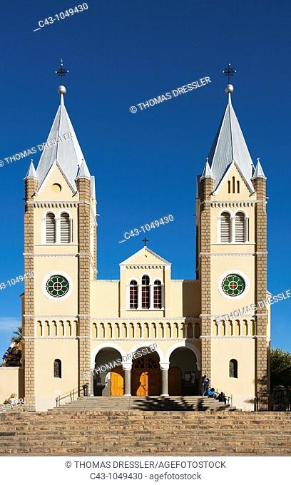 Namibia - The beautiful façade of St  Mary's Cathedral, a Roman Catholic church in Namibia's capital Windhoek