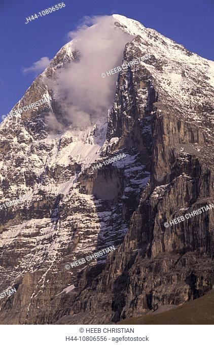 Berne, Canton Bern, Eiger, Eiger north face, mountains, north wall, scenery, landscape, Switzerland, Europe, Alps, B