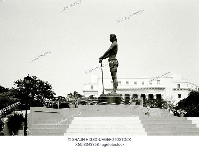 Statue of the Sentinel of Freedom Lapu-Lapu Monument in Rizal Park in Manila in Luzon Metro Manila in the Philippines in Southeast Asia Far East