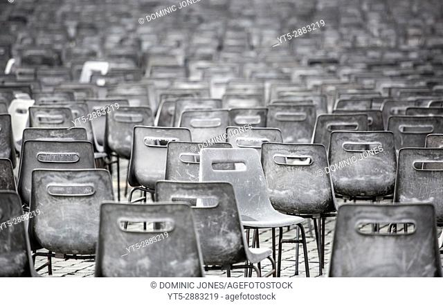 The hundreds of chairs at St. Peter's Square, Vatican City, Europe