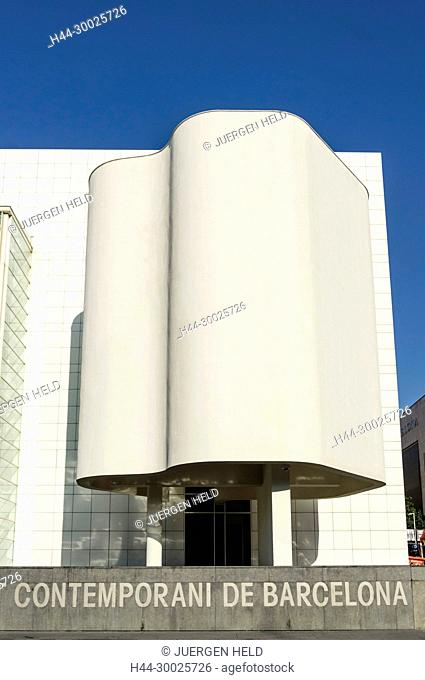 MACBA, Museum of Modern Art by Richard Maier, Barcelona, Catalunia, Spain