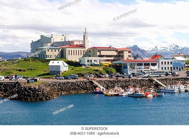 Buildings at the waterfront, Stykkisholmur, Snaefellsnes, Iceland