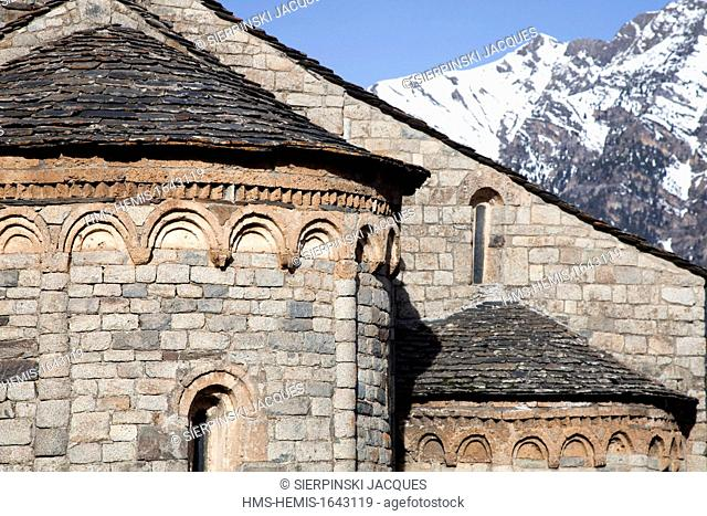 Spain, Catalonia, Boi valley, listed as World Heritage by UNESCO, Sant Climent de Taull church