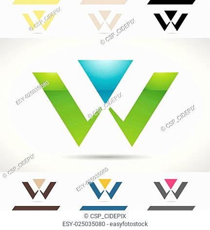Logo Shapes and Icons of Letter W