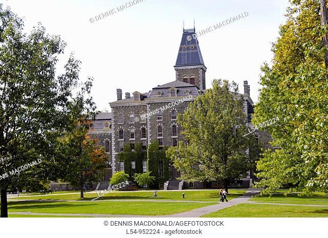 Students in Art Quad Cornell University Campus Ithaca New York Finger Lakes Region