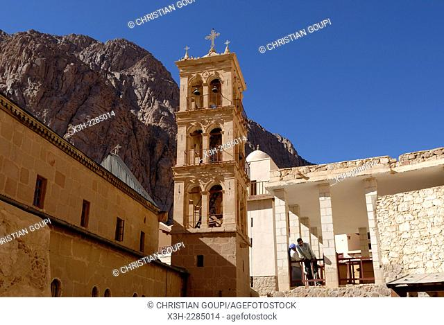 bell tower at Saint Catherine's monastery in South Sinai, Egypt, Africa