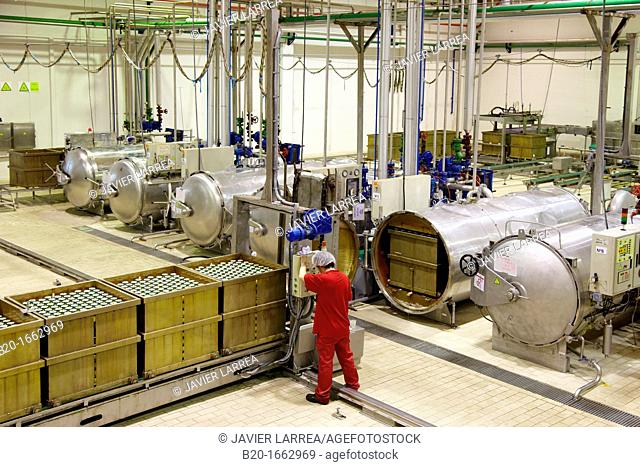 Autoclave sterilization in hermetically sealed containers by the method Appert, Appertization, Production line of canned vegetables and beans, Canning Industry
