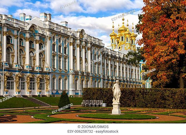 Catherine Palace in Tsarskoye Selo (Pushkin), Russ