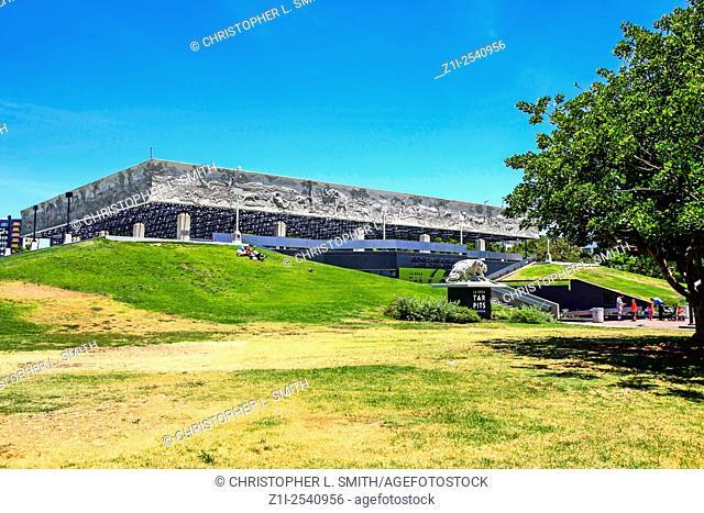 The La Brea Tar Pits museum in Hancock Park Los Angeles