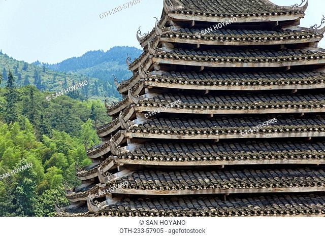 Mapang Drum Tower at Mapang Village, Sanjiang, Guangxi Province, China