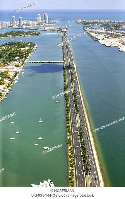 Road to Miami Beach, Florida