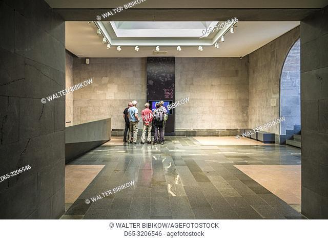 Armenia, Yerevan, Armenian Genocide Memorial, monument to the massacre of Armenians of the Ottoman Empire, 1915-1922, museum interior, NR