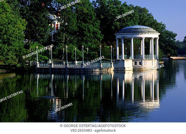 Pond reflection, Roger Williams Park, Providence, Rhode Island