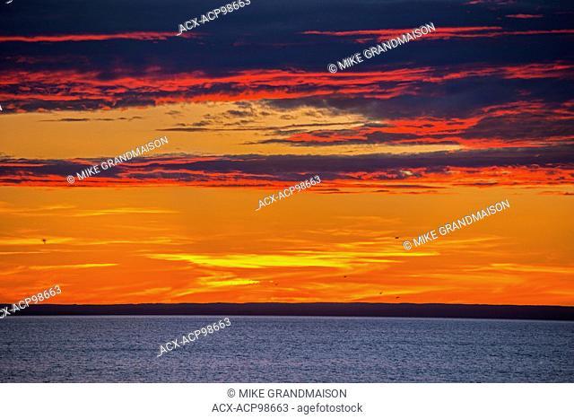 Sunset on the Atlantic Ocean Channel-Port aux Basques Newfoundland & Labrador Canada