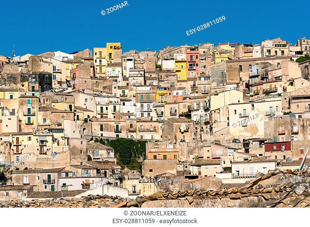 Part of the old baroque town of Ragusa Ibla in Sicily, Italy