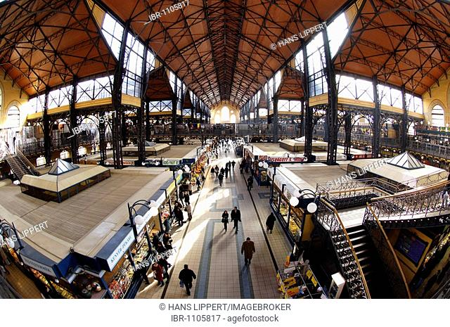 Wholesale Market Hall in Budapest, Hungary, Eastern Europe