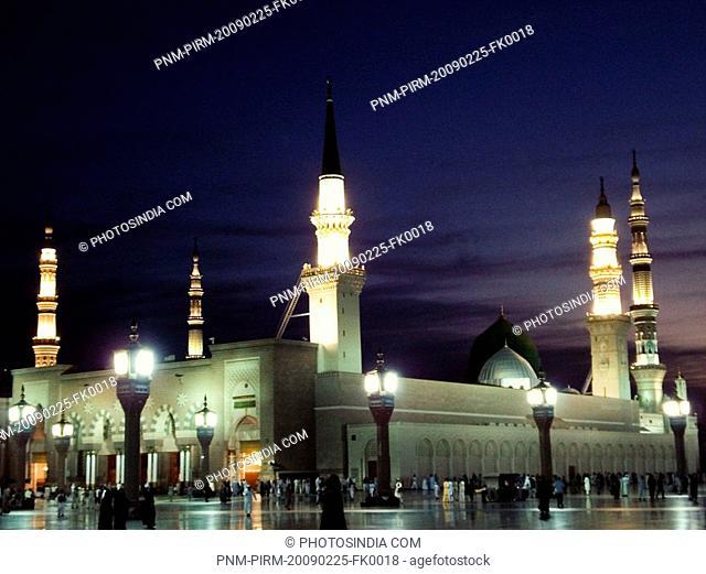 Pilgrims in a mosque, Al-Haram Mosque, Mecca, Saudi Arabia