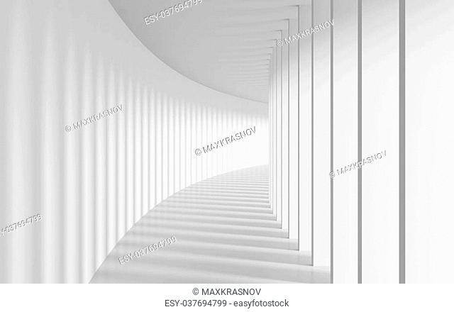 3d Illustration of Long Corridor