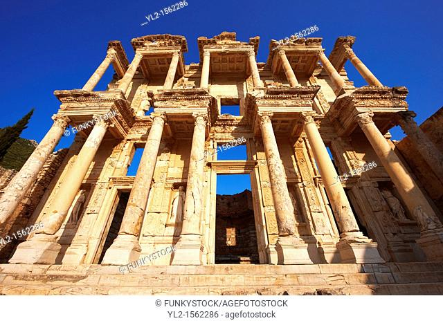 Picture of The library of Celsus  Images of the Roman ruins of Ephasus, Turkey  Stock Picture & Photo art prints 5