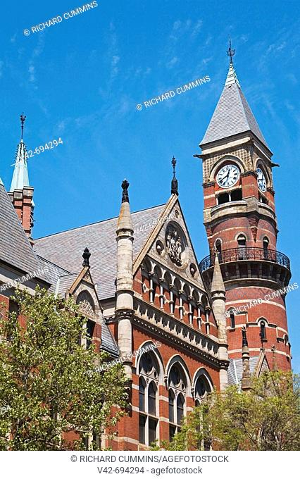 Jefferson Market Library in Greenwich Village, Downtown Manhattan, New York City, New York, USA