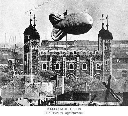 Barrage Balloon over the Tower of London, c1939
