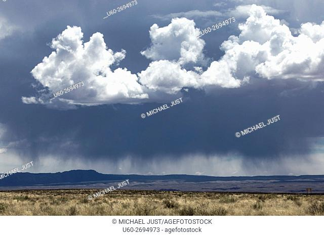Storm clouds develop over the Northern Arizona landscape near Vemilion Cliffs National Monument