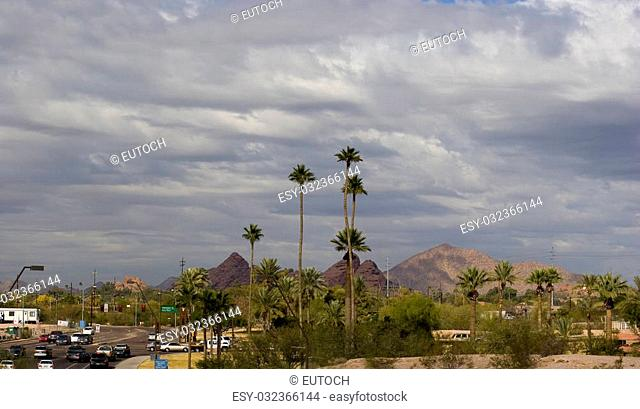 Panorama of Streets in Northern Phoenix, AZ