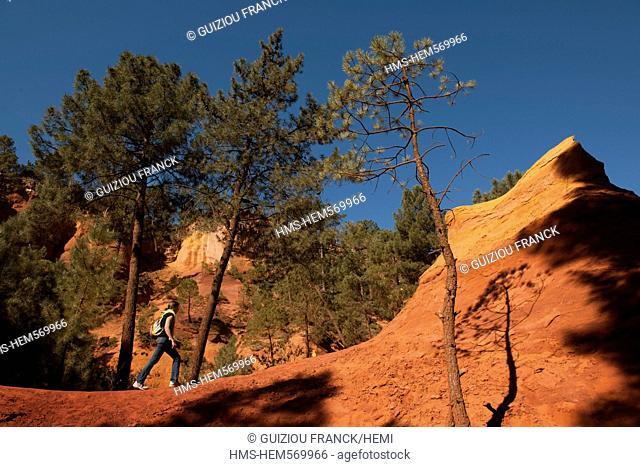 France, Vaucluse, Roussillon, Parc Naturel Regional du Luberon Natural Regional Park of Luberon, labeled Les Plus Beaux Villages de France The Most Beautiful...