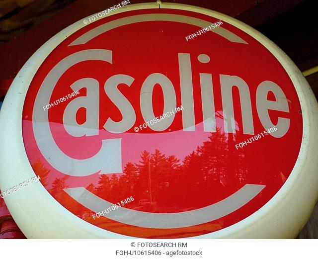 Littletown, NH, New Hampshire, Antique Gas Station Signs